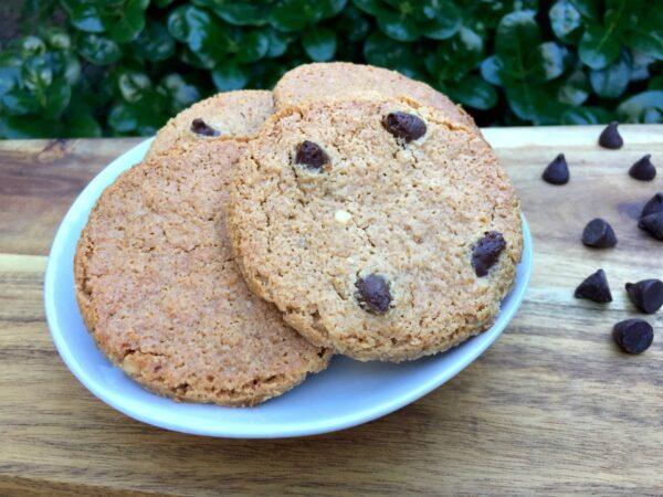 Flourless Peanut Butter Choc Cookies