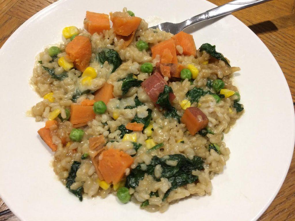 rice peas parmesan