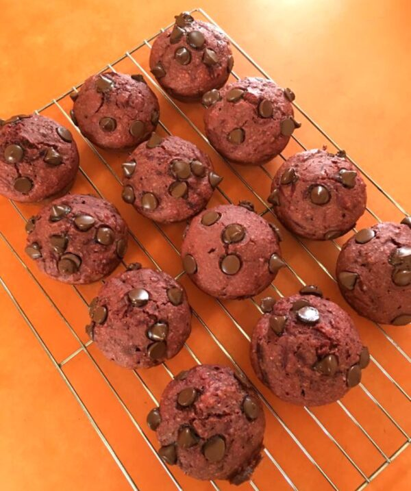 146 Calorie Choc Beetroot Muffins