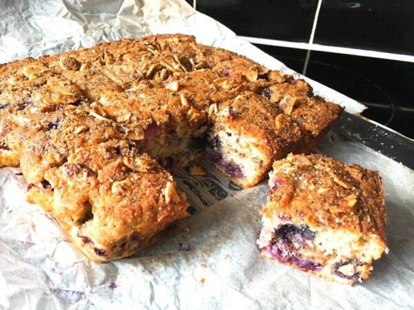 Gluten Free Blueberry Cinnamon Swirl Cake