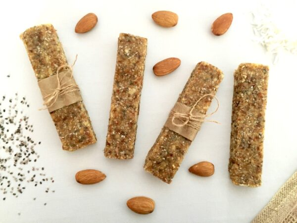no bake coconut almond bars