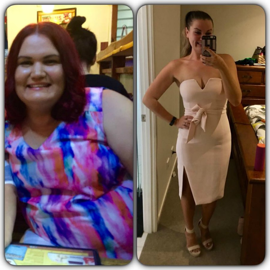 Gorgeous Renée has lost 50kgs and now fits into her goal dress!