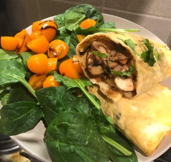 15 Minute Mushroom Omelette Rolls