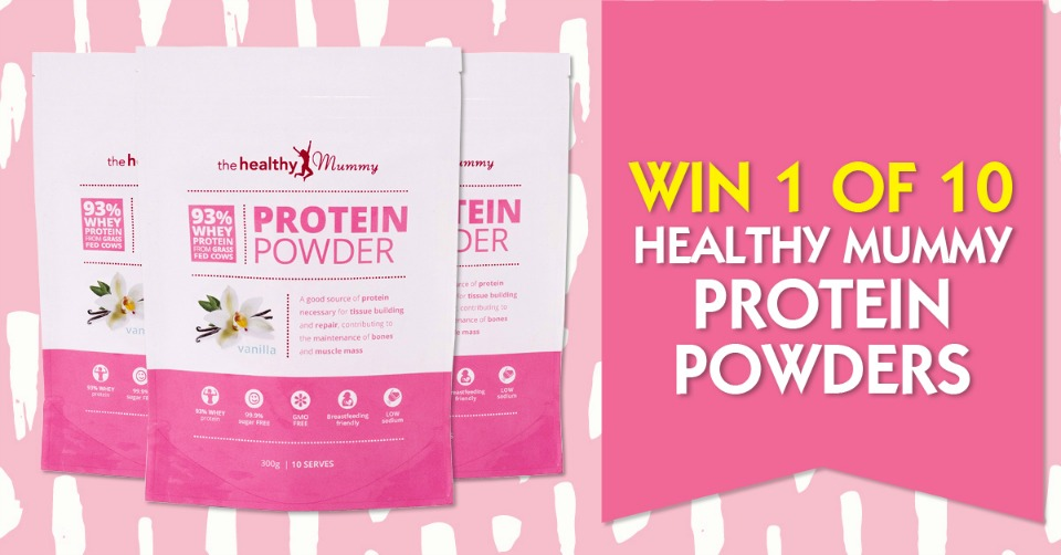 1Win one of 10 Healthy Mummy Protein Powders