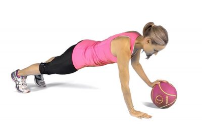 The best exercises to lose stomach fat! Plank with Ball Roll