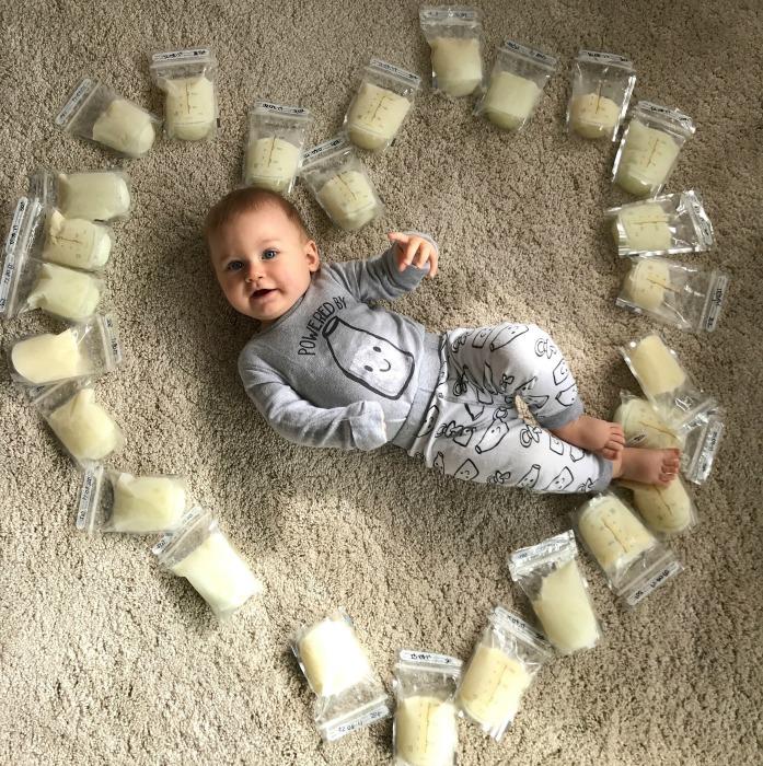 breastmilk-baby