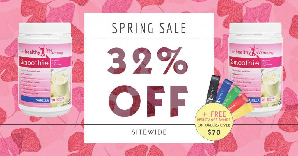 spring 32% off sale