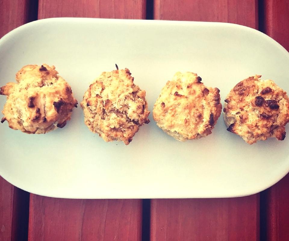 Spiced Apple Coconut Mini Muffins
