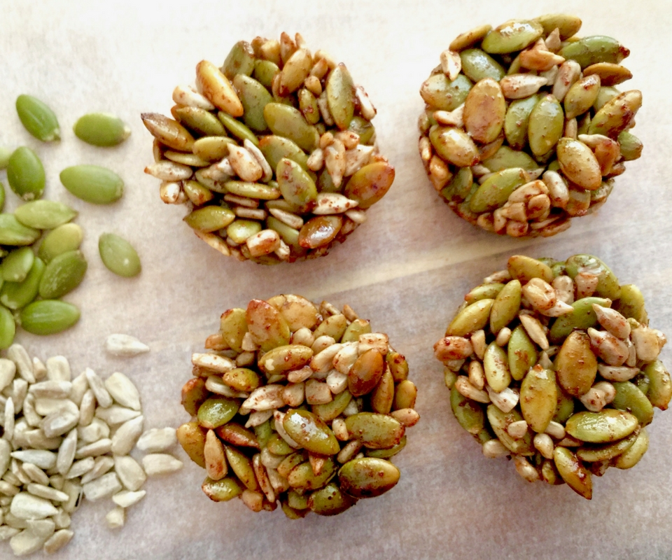 47 Calorie Sweet and Salty Seed Cups
