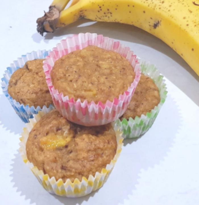 Sugar Free Healthy Banana and Date Muffins