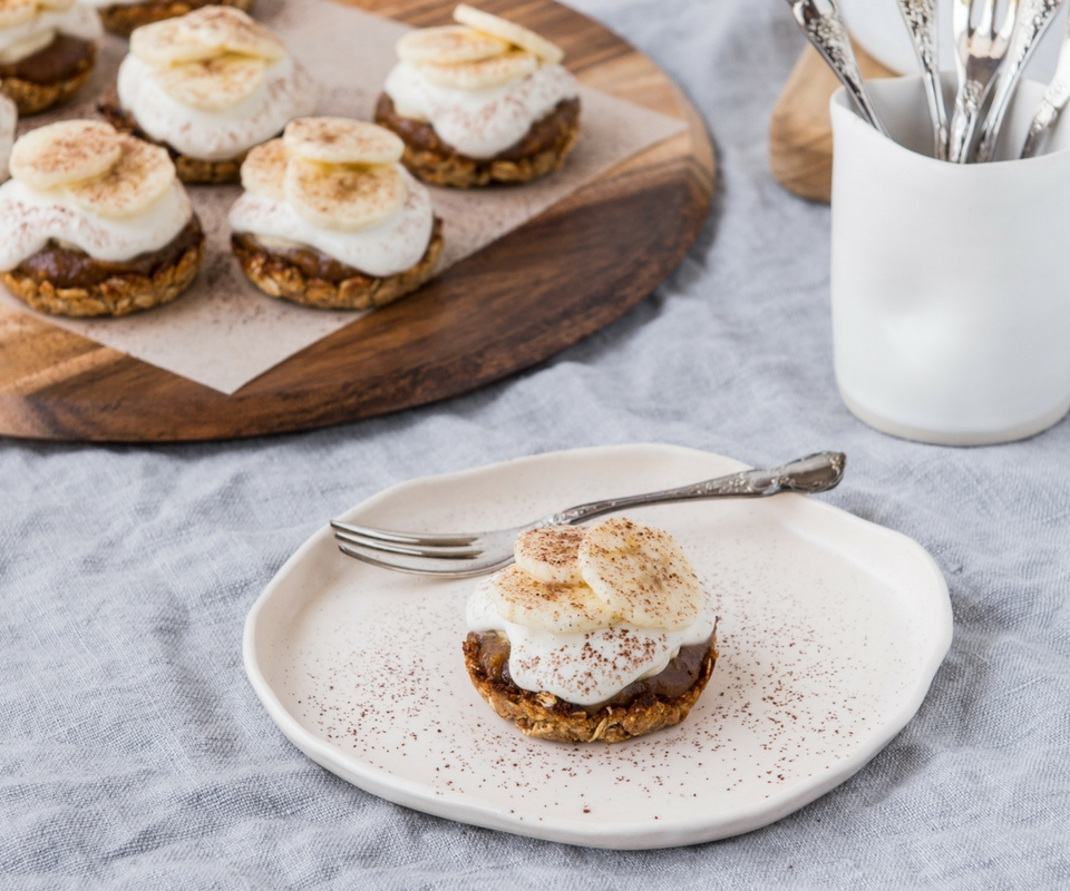 Date and Coconut Banoffee Pies