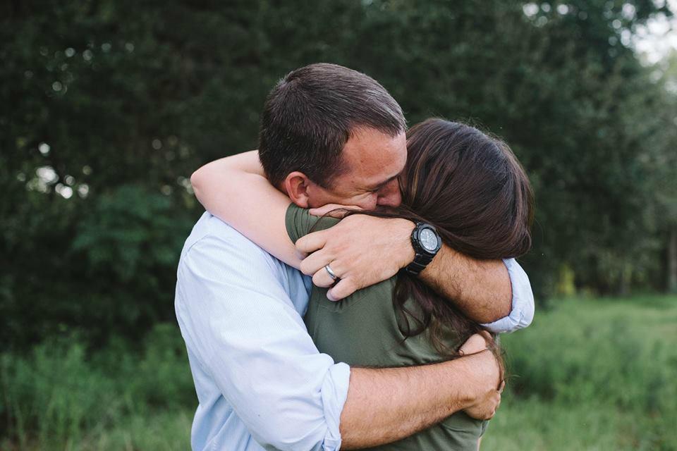 Eric and Kellyn hugging