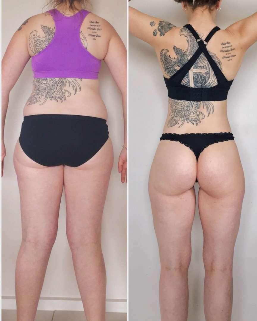Melissa Golding before and after behind