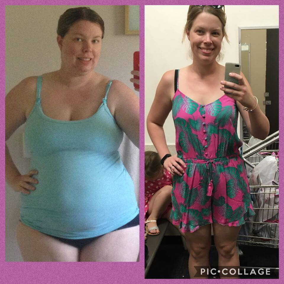 A before and after pic Challenge workout and weight loss