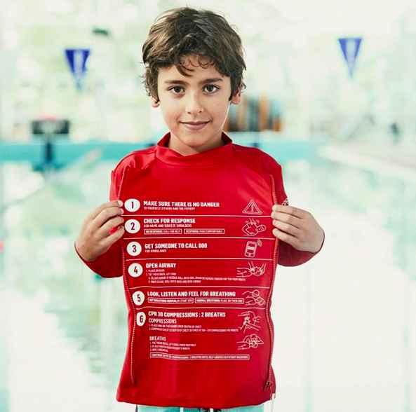 Red rashie for kids