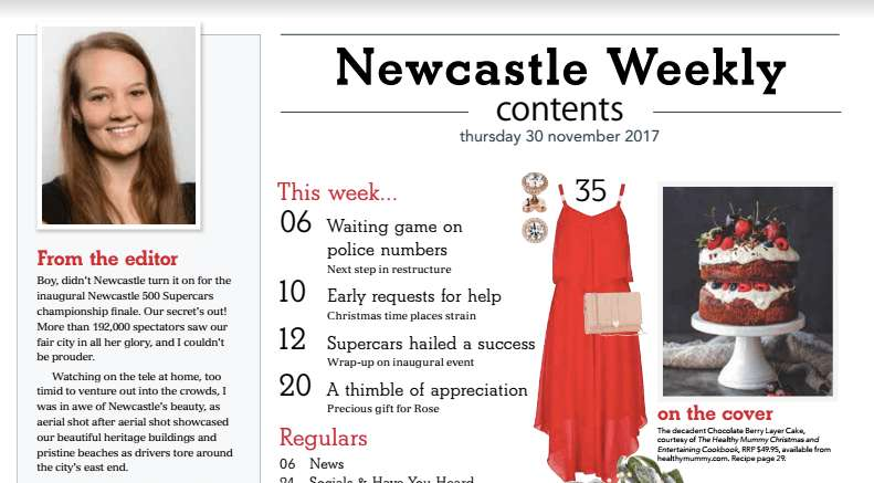 Healthy Mummy article in Newcastle Weekly