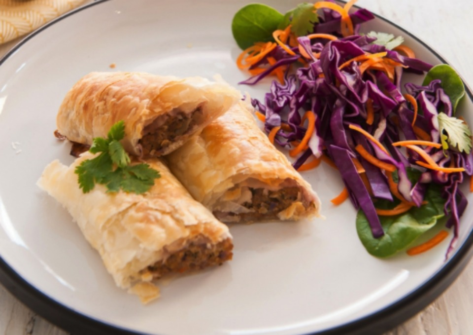healthy hidden vege sausage rolls