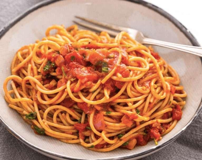 chunky tomato spaghetti