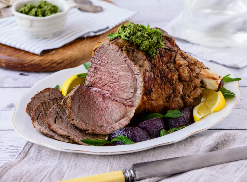 Roast Lamb Mint Pesto