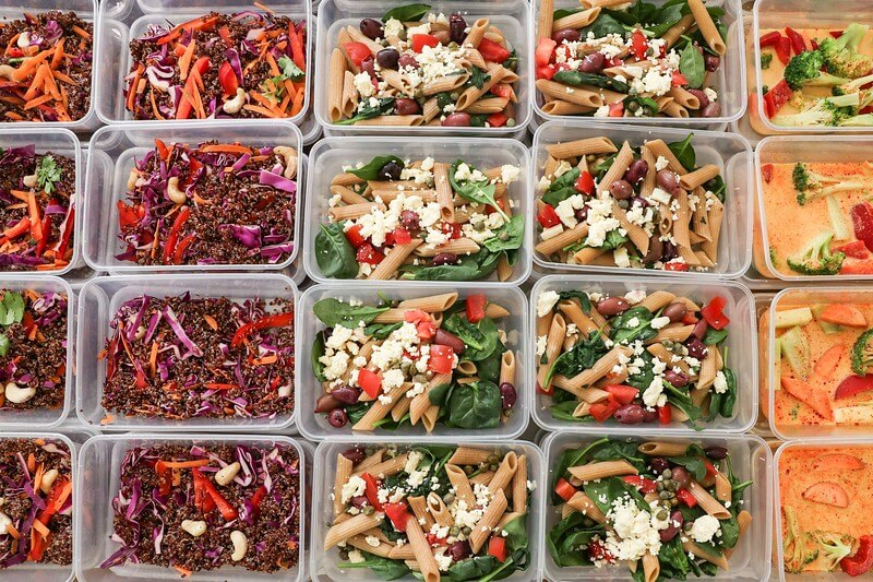 meals prepped for charity