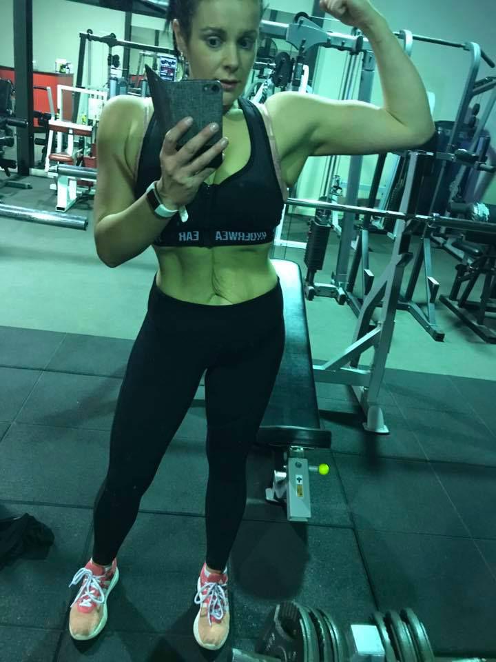 christine stewart in the gym