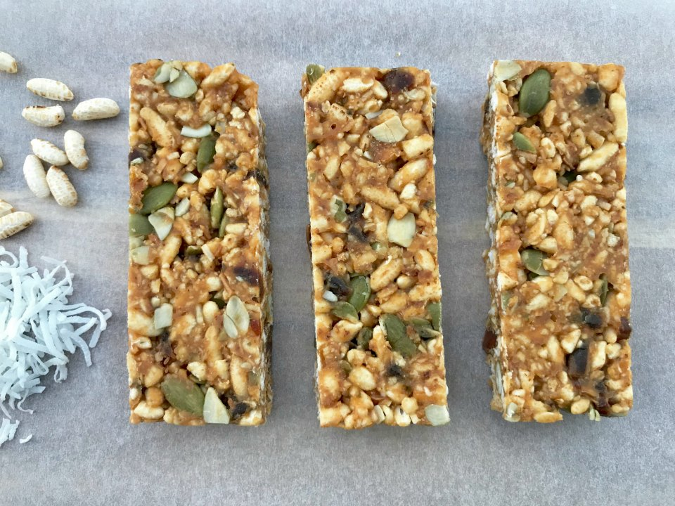 Puffed Rice and Coconut Bars