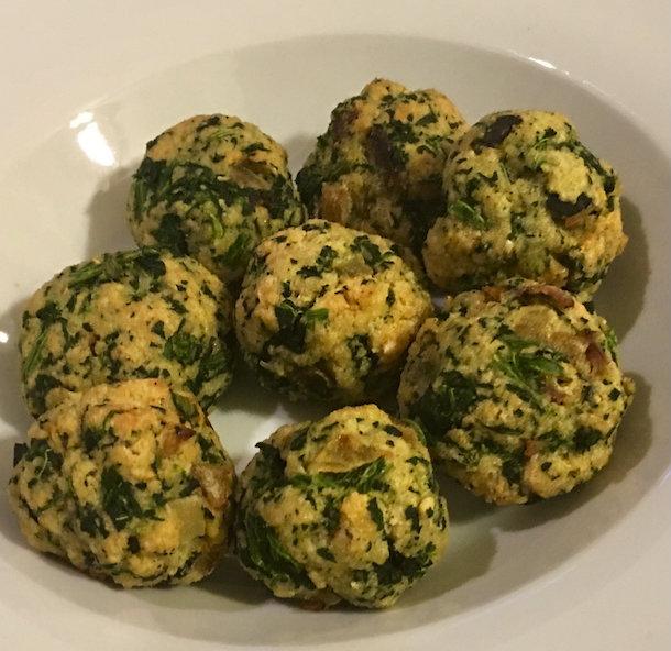 spinach balls chloe cox
