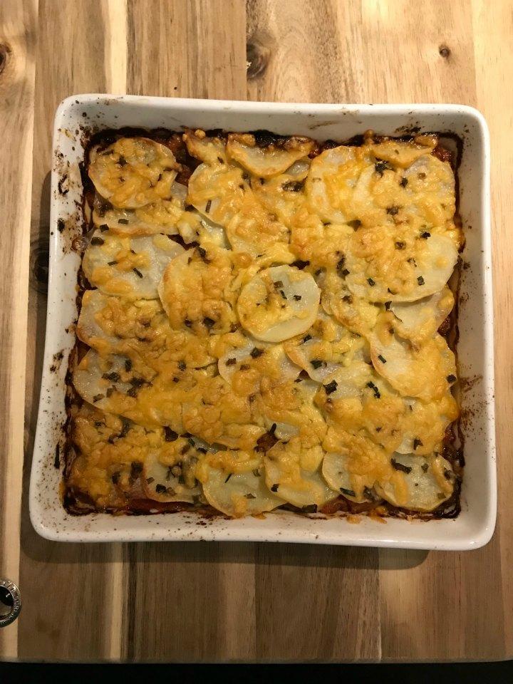 Potato topped savoury mince pie