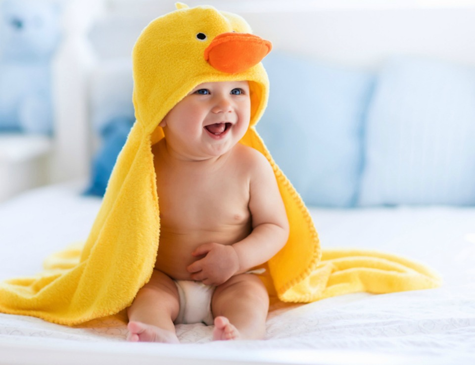 baby duck towel