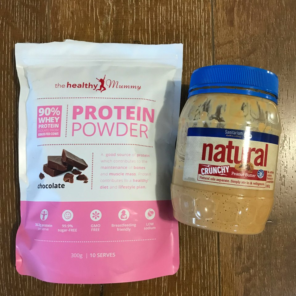 protein and peanut butter