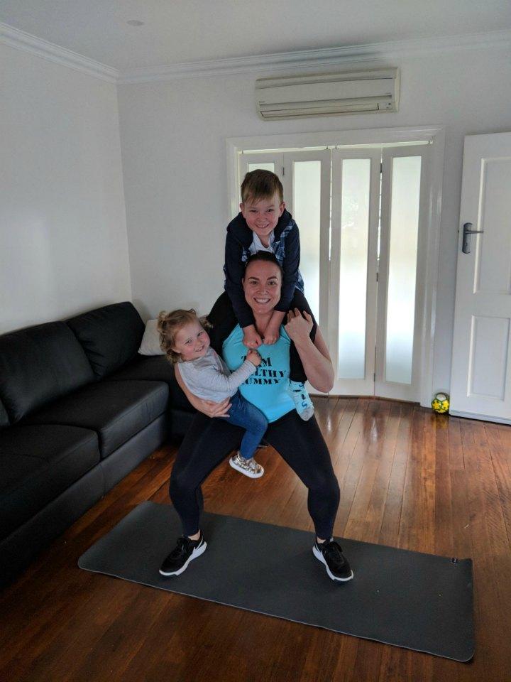 Lauren with kids